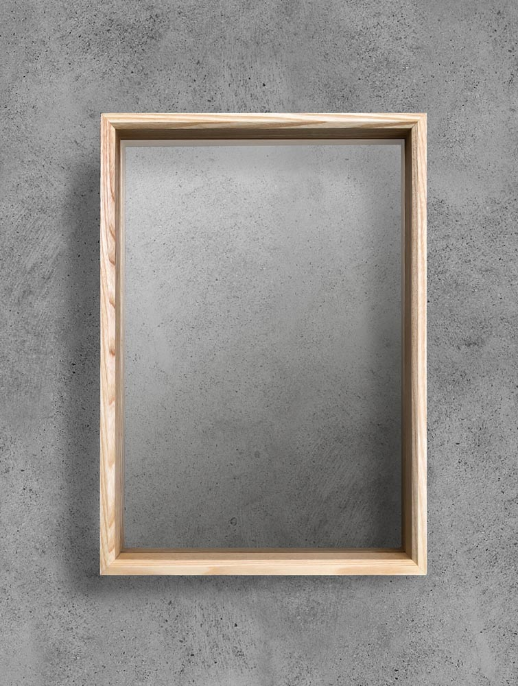 Wood Frame with two transparent panels